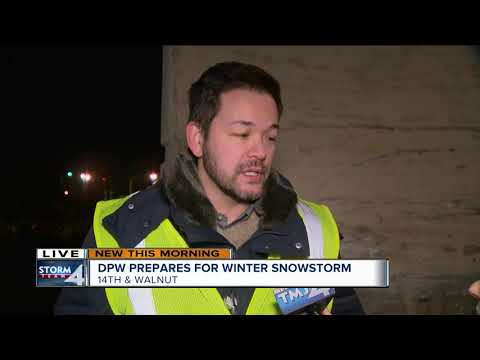 DPW Prepares For Winter Snow Storm