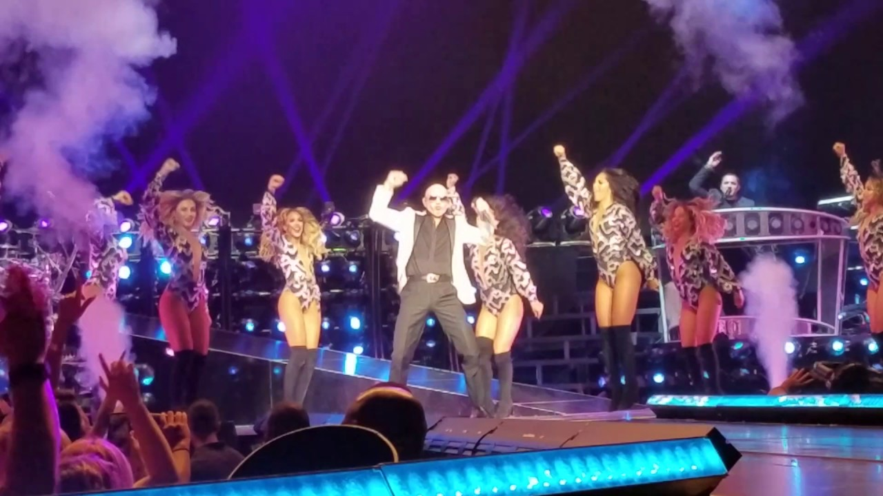 pitbull rain over me madison square garden 1 julio 2017 youtube