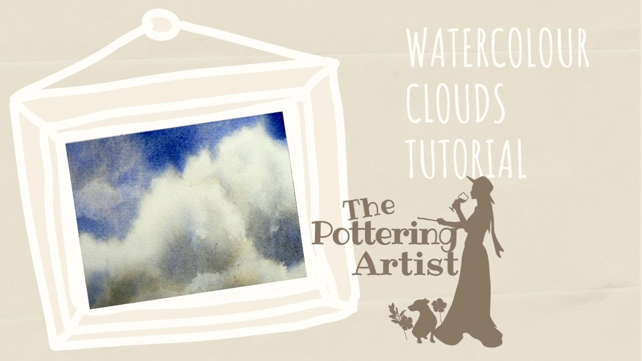 Painting A Cloud In Watercolor Free Tutorial Realtime