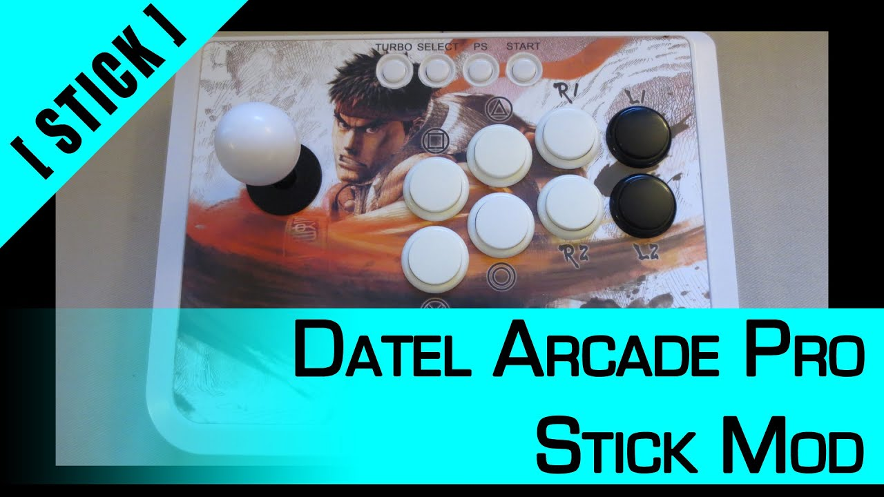 Arcade Stick Mod] Part 1: Datel Arcade Pro - PC/X360/PS3/PS4 (Legacy ...