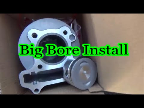 50cc gy6 Scooter Big bore kit install