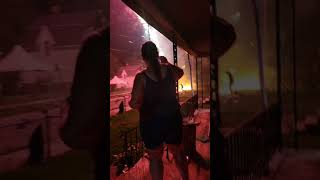 Fireworks Explosion, East Side of Toledo, 4th of July, 2021