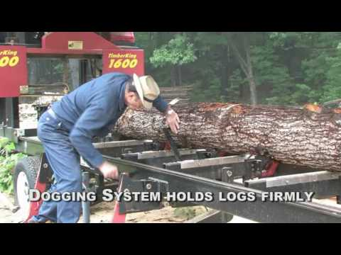 Mid-Size Portable Sawmill with Basic Hydraulics | TimberKing