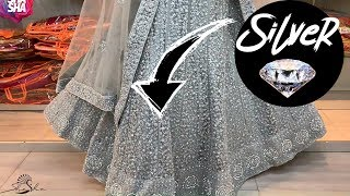 Premium Silver Diamond Lehenga by SHASHA | Original Edition