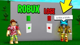 PUSH THE RIGHT ROBLOX BUTTON TO WIN! *ONE CHANCE*