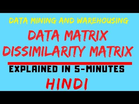 Data Matrix And Dissimilarity Matrix In Data Mining And Warehousing Explained In Hindi