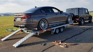 DECATTED 720HP BMW M5 F10 LOUD SOUNDS Revs Drag Racing