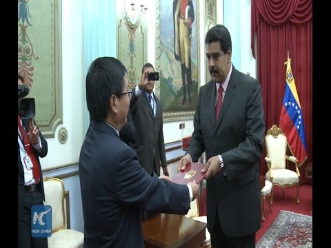 "Maduro greets new Chinese Ambassador as ""old friend"""