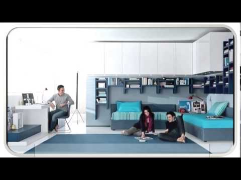 Teen Blue Modern Bedroom