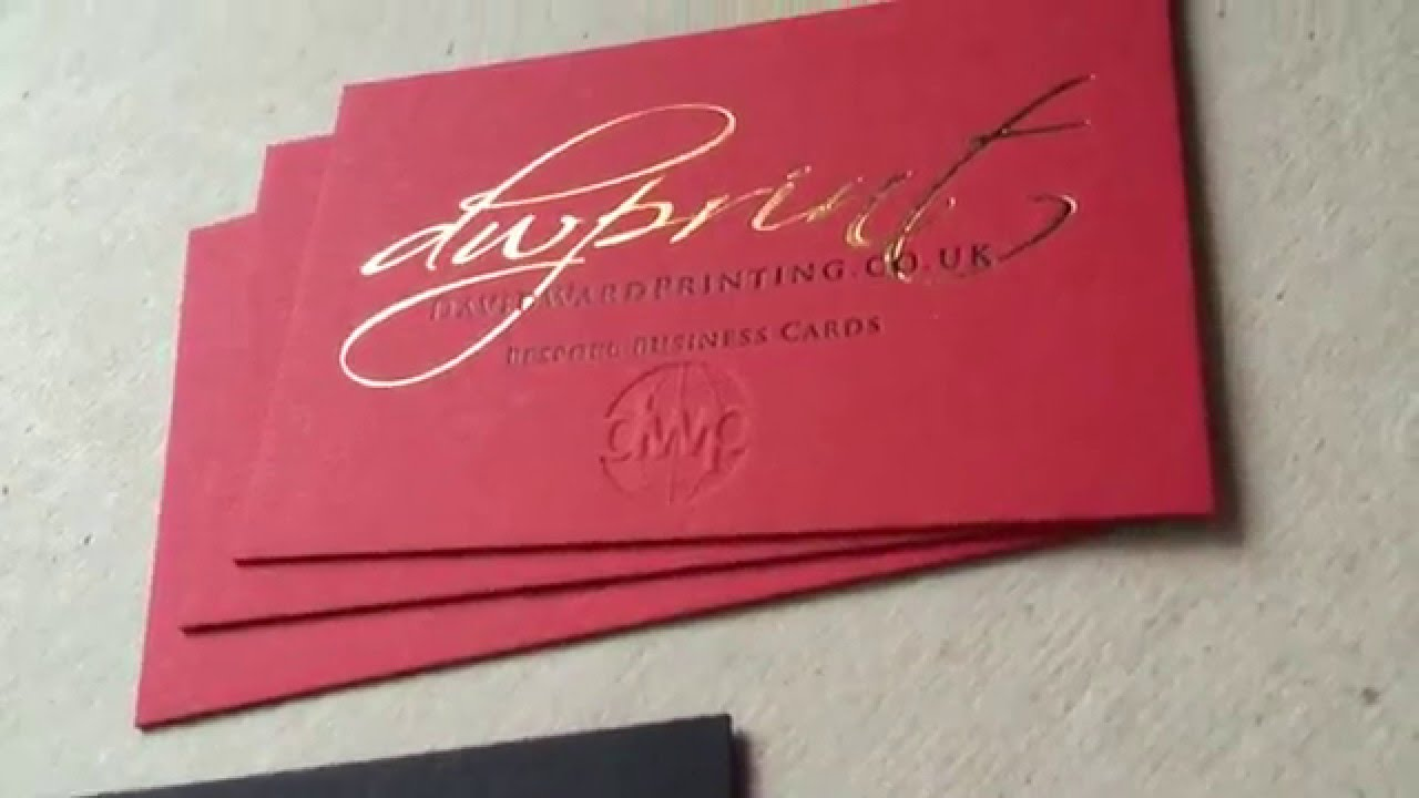 Buy gold foil business cards letterpress embossed edge painted buy gold foil business cards letterpress embossed edge painted leeds yorkshire uk youtube colourmoves