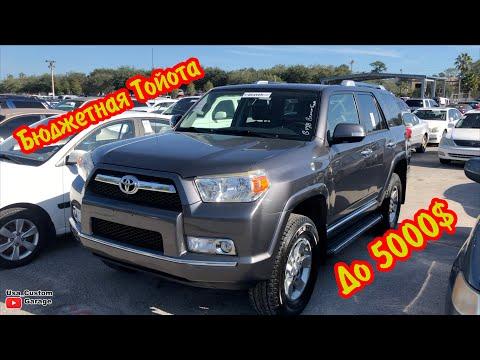 Цены на Б\У  Toyota из Америки