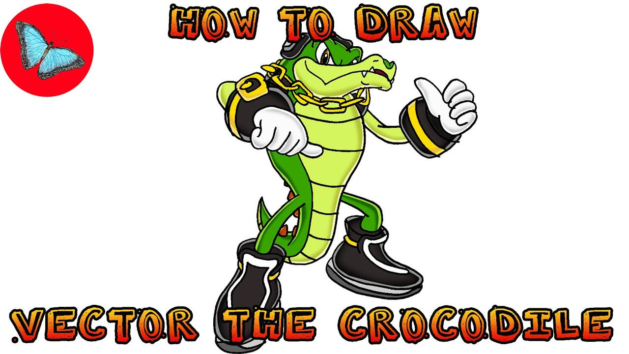 How To Draw Vector The Crocodile Sonic The Hedgehog Drawing Animals Youtube