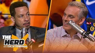 Chris Broussard: 'I think KD has played his last game as a Warrior,' talks Giannis | NBA | THE HERD