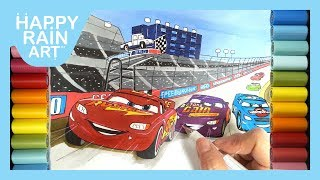 How to color Lightning McQueen, Cal Weathers and Bobby Swift from Cars 3 Movie Clip All Trailers2017