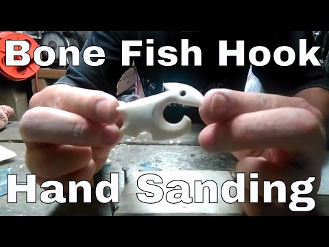 Hand Sanding Bone Carving Fish Hook