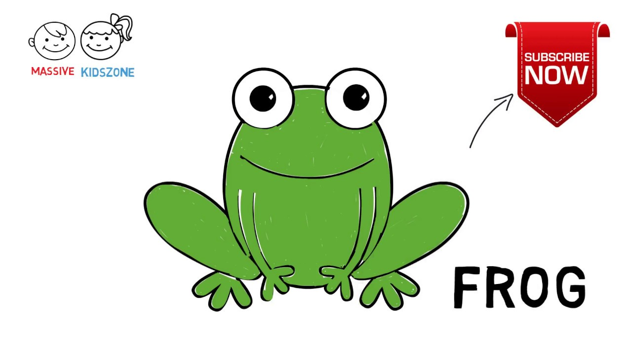 How To Draw a Frog   Step By Step Drawing Lesson For Kids ...
