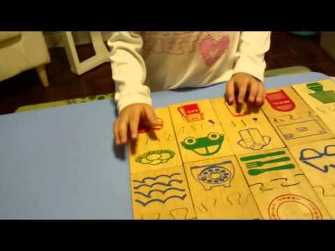 พิตต้า เล่น puzzle จับคู่สิ่งของ (3y2m)