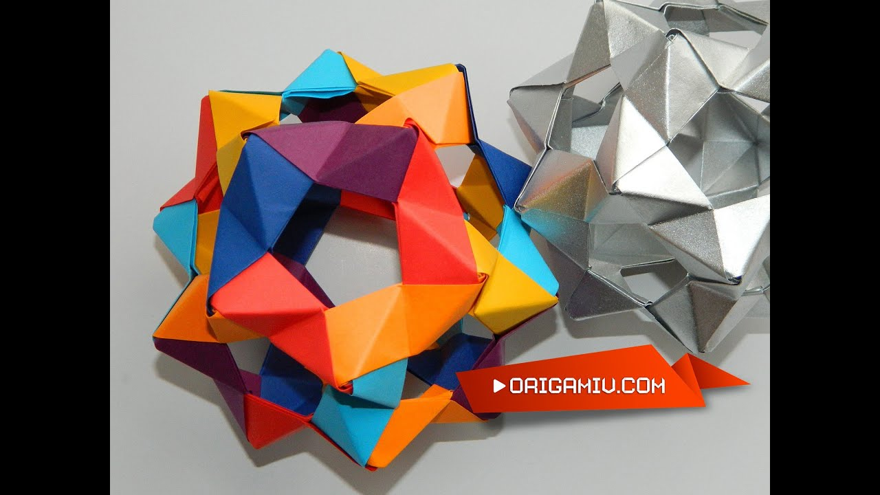 soccer ball modular origami diagram bt openreach telephone socket wiring how to make a Сolor star holes kusudama phizz