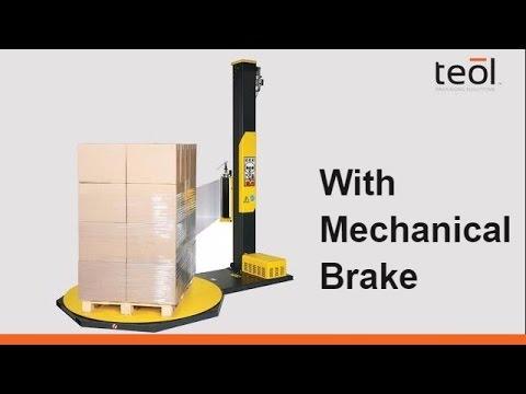 Semi automatic stretch film wrapper with mechanical brake OneWrap M