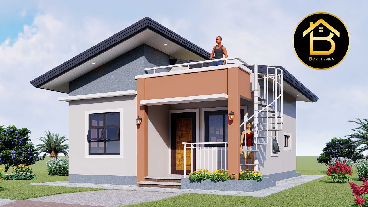 Small House Design 6x7 Meters Youtube