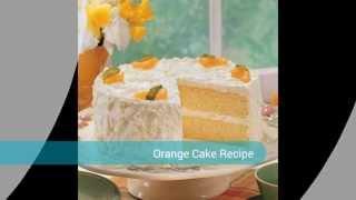 Cream Orange Cake Recipe