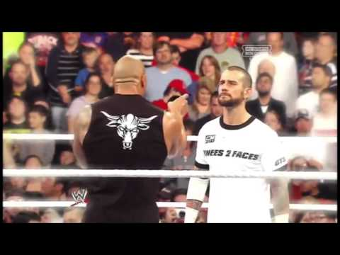 WWE CM Punk Vs The Rock - Royal Rumble - Clement Marfo