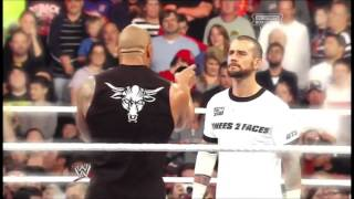 WWE CM Punk Vs The Rock - Royal Rumble 2013 promo