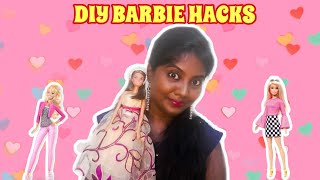 DIY BARBIE HACKS & CRAFTS | Making Simple BARBIE CLOTHES & ACCESSORIES | Ani's Tamil Kitchen