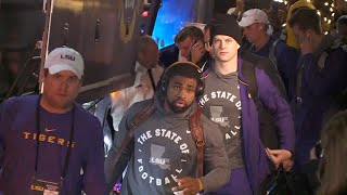 LSU arrives in New Orleans for CFP Championship game against Clemson
