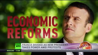 'France divided'  Emmanuel Macron takes office amid protests