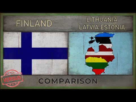 FINLAND vs LITHUANIA, LATVIA, ESTONIA | Army Comparison (201