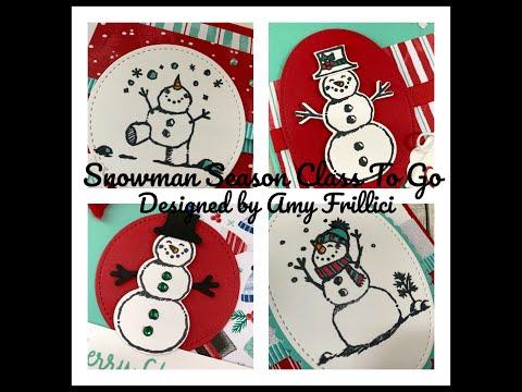 Snowman Season Class TO GO & a Tutorial Only Option thumbnail