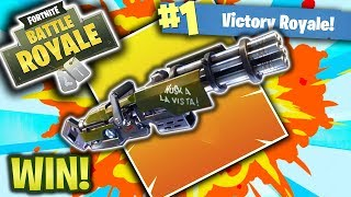 HOW TO WIN WITH THE MINI GUN! (Fortnite Battle Royale!)