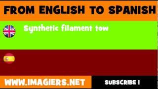ESPAÑOL = INGLÉS = Borra de filamentos sintéticos