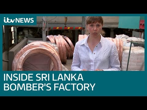 See inside the factory owned by a Sri Lankan suicide bomber | ITV News