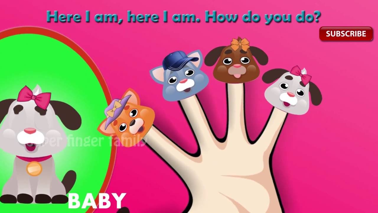 Color Animals Finger Family Songs | Color Puppies Finger Family Songs | Penguins Finger Family