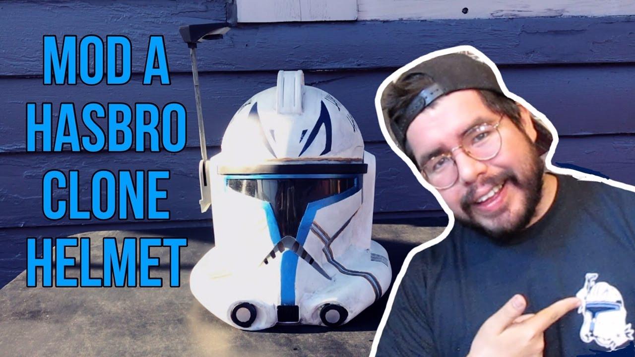 Mod a Hasbro Clone Trooper Helmet to Captain Rex