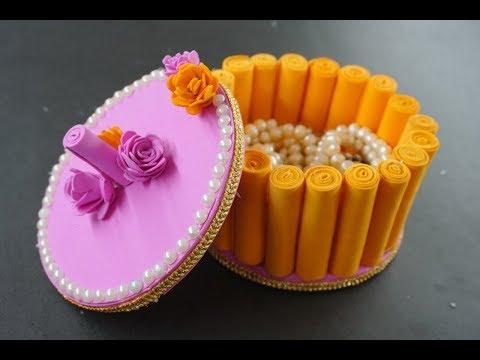 DIY - craft ideas . How to Make Jewelry Box-makeup Box-Handmade