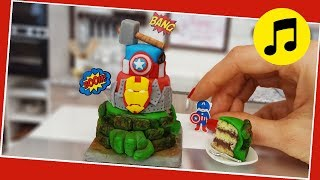 MUSIC - Mini Avengers cake, Jenny's mini cooking, mini cake, tiny food,  real mini cake