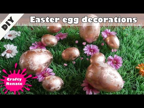 How to decorate Easter eggs - wooden Easter egg decorations 🥚