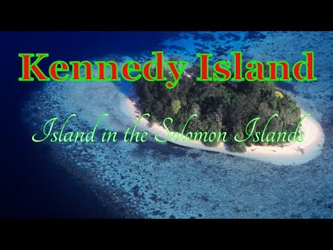 Visiting Kennedy Island, Island in the Solomon Islands