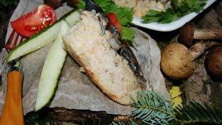 Рисово мясная запеканка в грибной заливке  Украинская кухня
