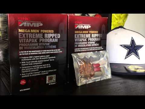 GNC Mega Men Powered Extreme Ripped Vitapak Program