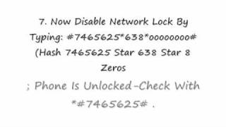 How To Unlock A SamSung Phone For FREE!!!