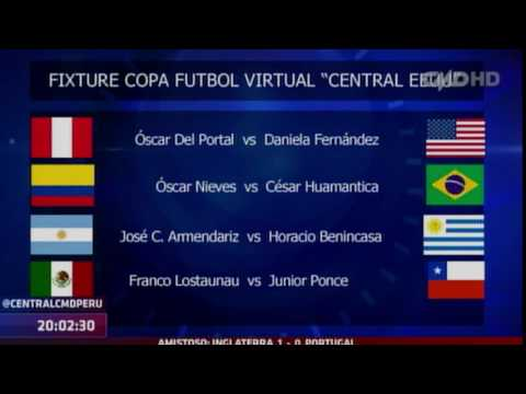 Central Estados Unidos: Fixture de la Copa Fútbol Virtual