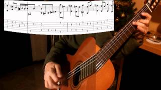 J. S. BACH BOUREE BWV 996 Em with score and download