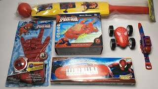 My Latest cheapest spiderman toys collection, space racing car, bat ball, projector watch