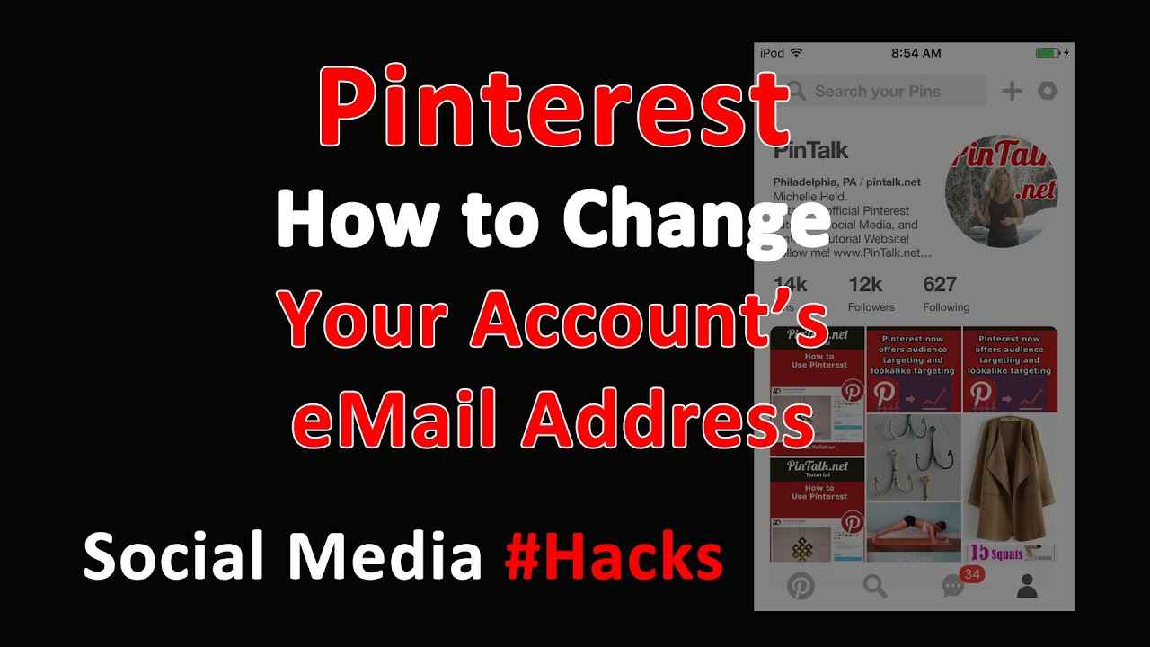 Pinterest Home All: Pinterest How To Change Email Address Pinterest Account