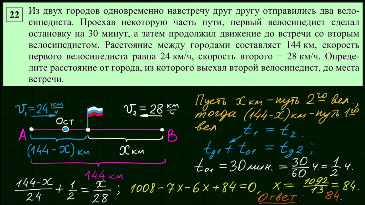 Решение задачи огэ ч 2 егэ по математике решение 11 задачи