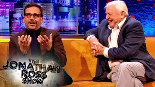 David Attenborough Loses It at Steve Carell's Improvised Baboon Encounter | The Jonathan Ross Show